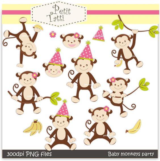 monkey girls clip art.