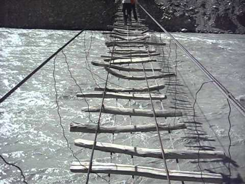 World's Most Dangerous Bridge? Passu Suspension Bridge, Northern.