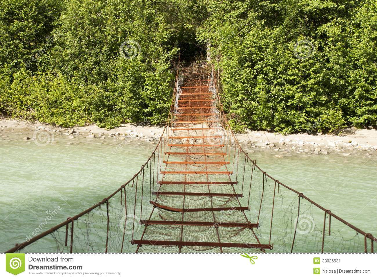 Dangerous Bridge Stock Image.