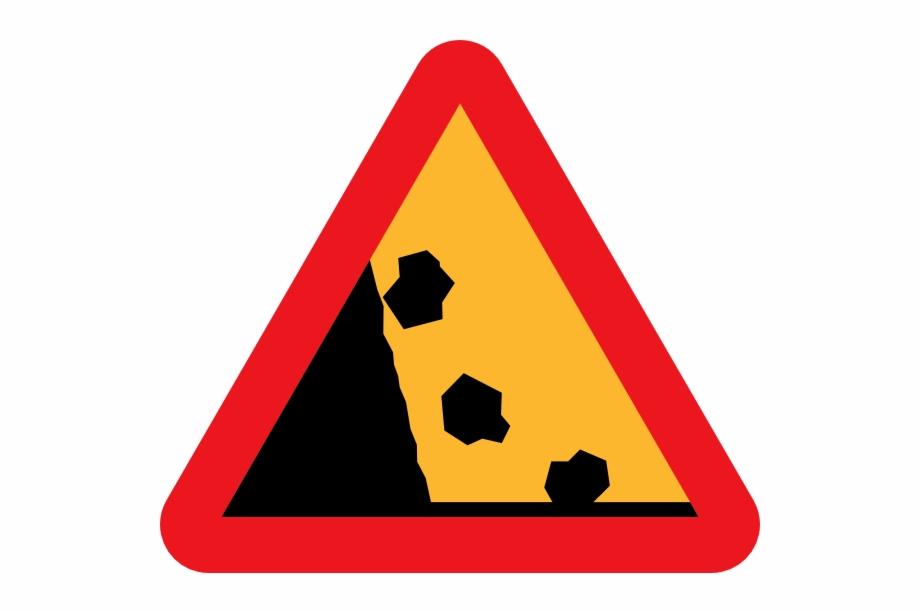 Falling Rocks Road Sign Clip Art.
