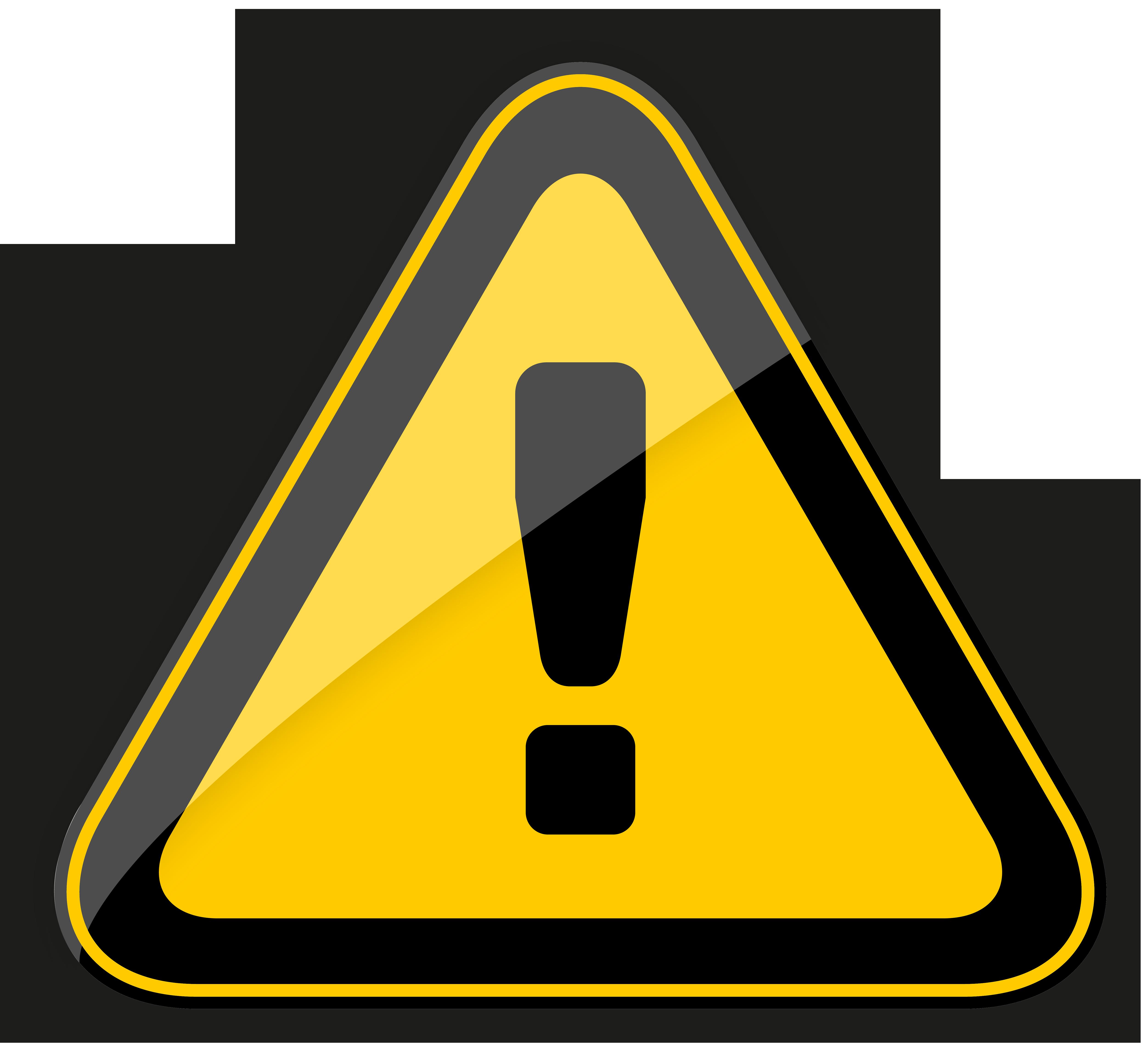 Danger Warning Sign PNG Clipart.