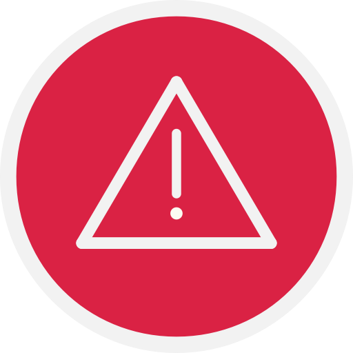 Alert, danger, warn, warning icon.