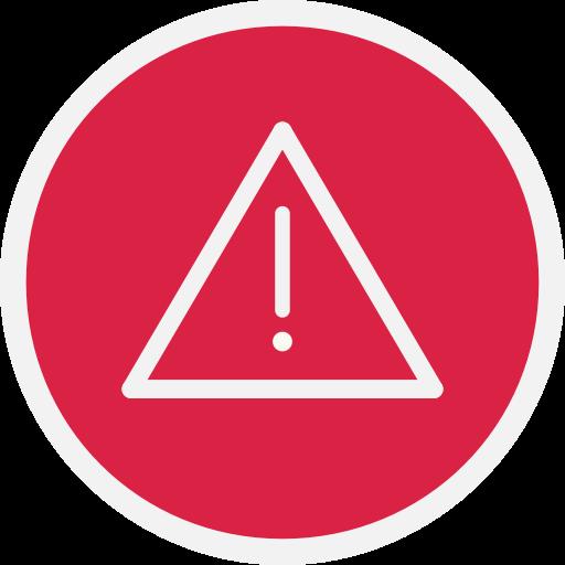 Alert, danger, warn, warning icon.