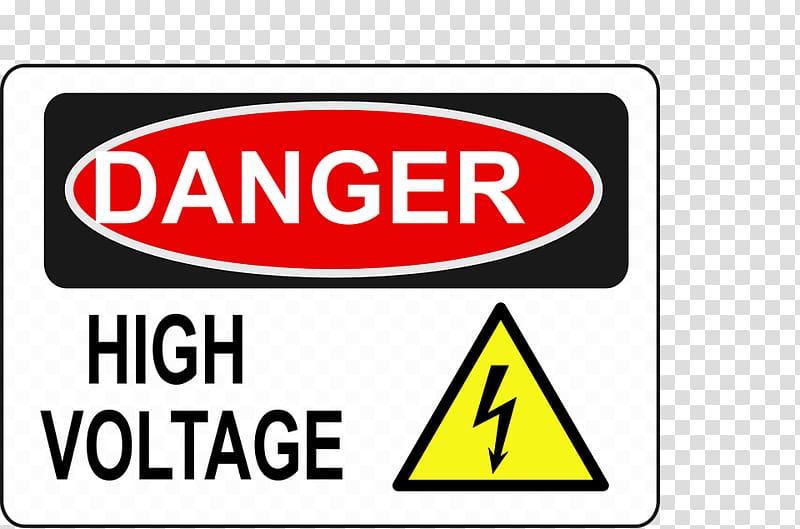 Danger! High Voltage , High voltage transparent background.