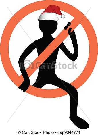 Vector Clip Art of stop the danger man symbol csp9044771.