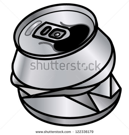 Crushed Soda Can Clipart.