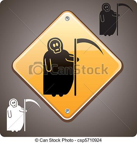 EPS Vector of Warning! Death ahead.