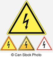 Risk electrical shock danger death Vector Clipart Illustrations.