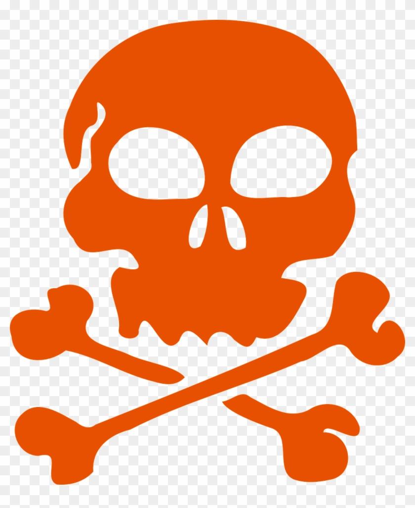 Skull Bones Pirate Flag Danger Png Image.
