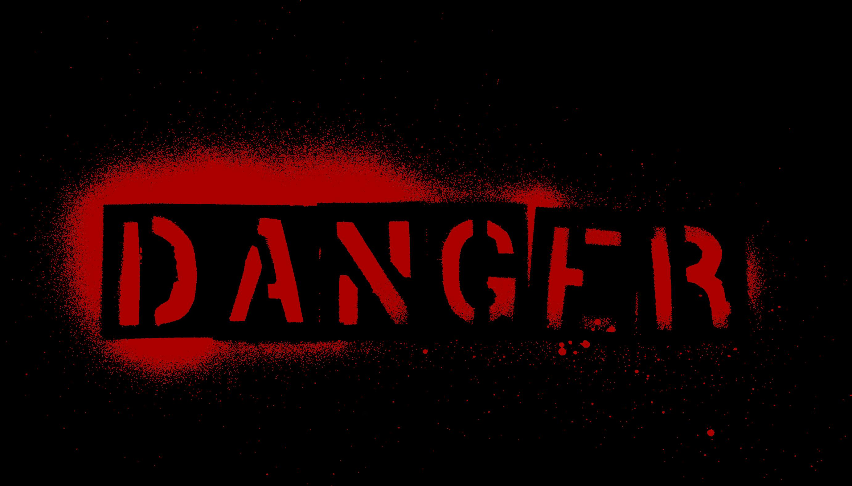 4 Grunge Word Danger (PNG Transparent).