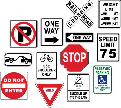 Free Warning danger road signs Clipart and Vector Graphics.