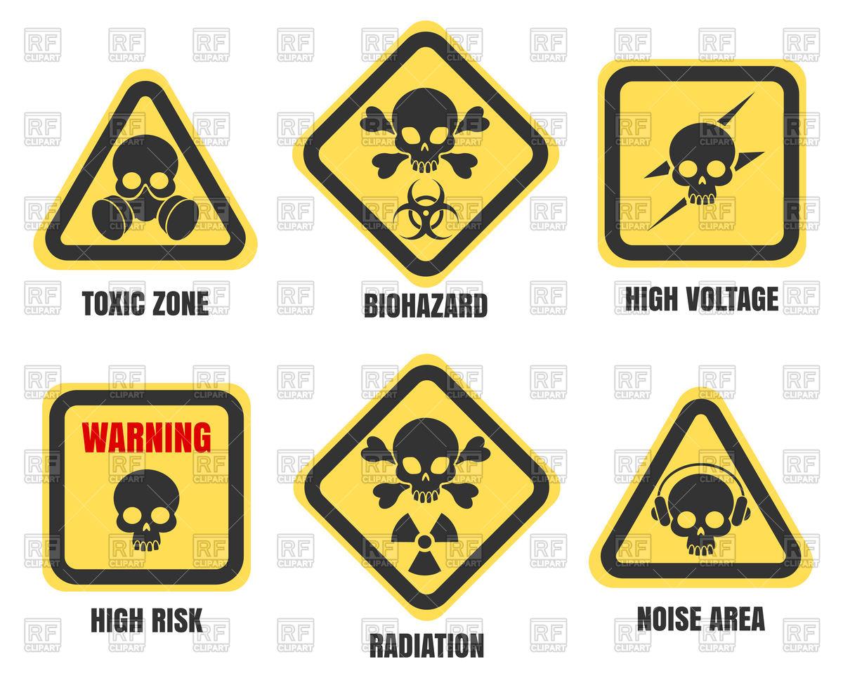 Danger signs Stock Vector Image.