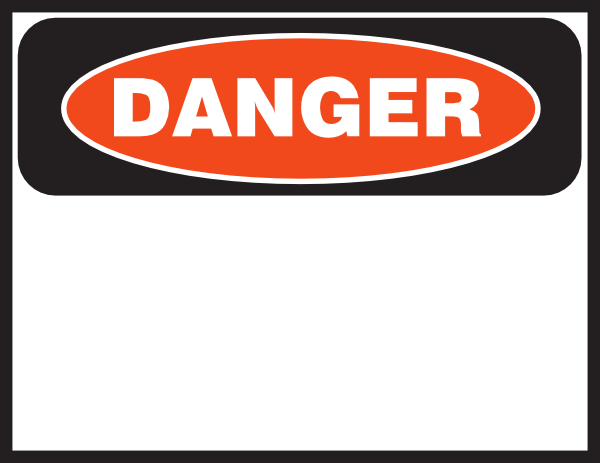 Free Danger Signs.