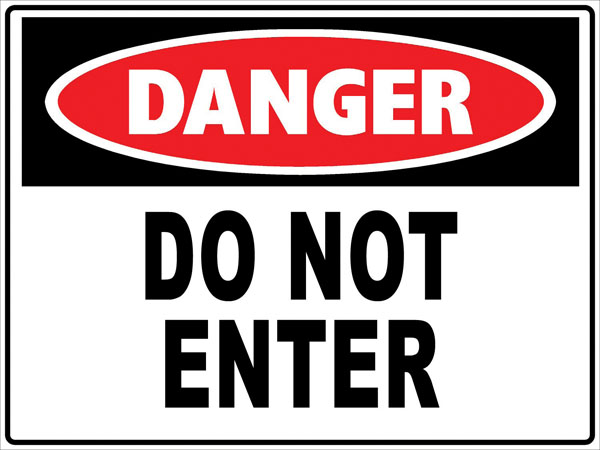 Danger sign clip art.