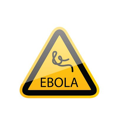 Sign epidemic Ebola, danger symbol warning Clipart Image.