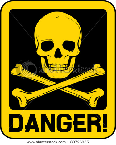 Dangerous skull clipart hd.