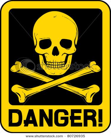 Dangerous skull clipart hd.