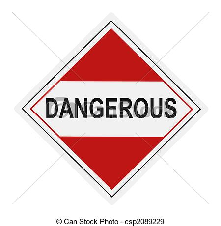 Stock Illustration of Dangerous Warning Label.