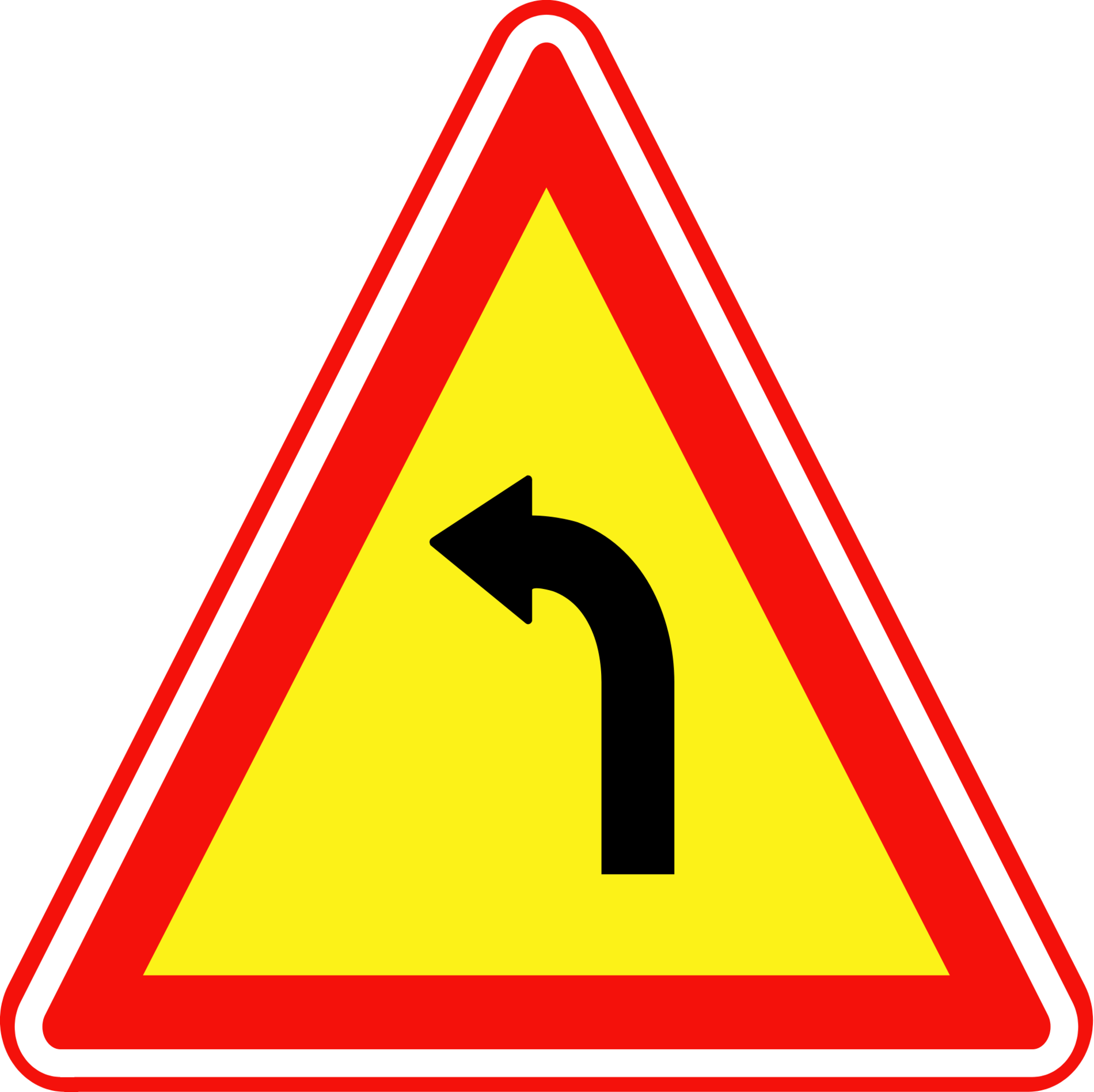 Pix For > Dangerous Curve Sign Clipart.
