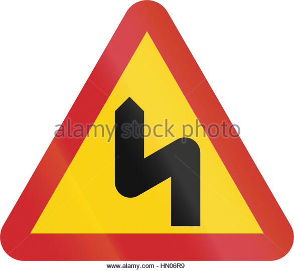 Warning Sign Dangerous Curves Stock Photos & Warning Sign.