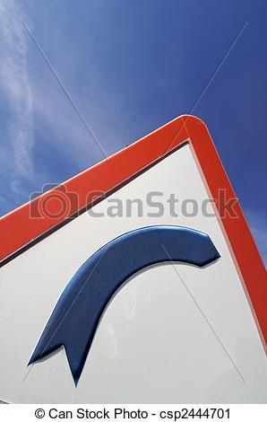 Stock Photography of traffic signal dangerous curve on the right.