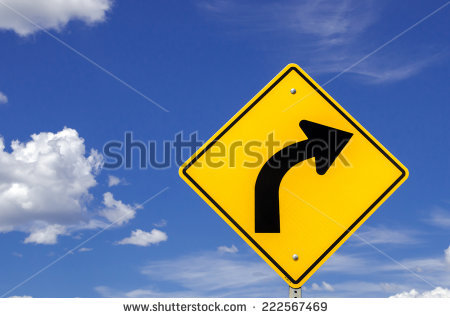Right Turn Sign Stock Photos, Royalty.