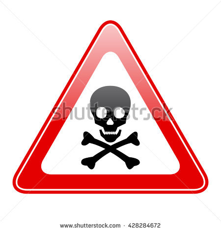 Vector Illustration Red Octagon Danger Sign Stock Vector 414948616.