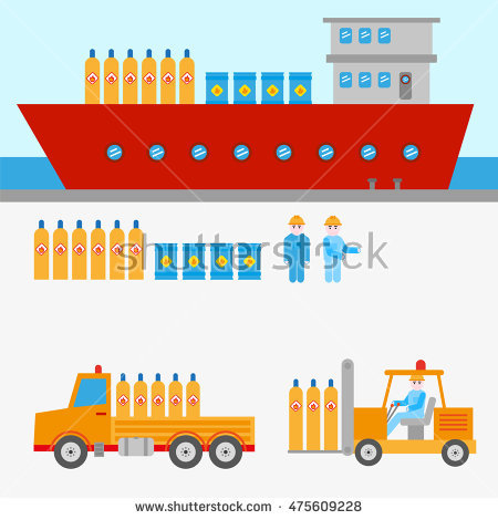 Dangerous Goods Transport Stock Photos, Royalty.