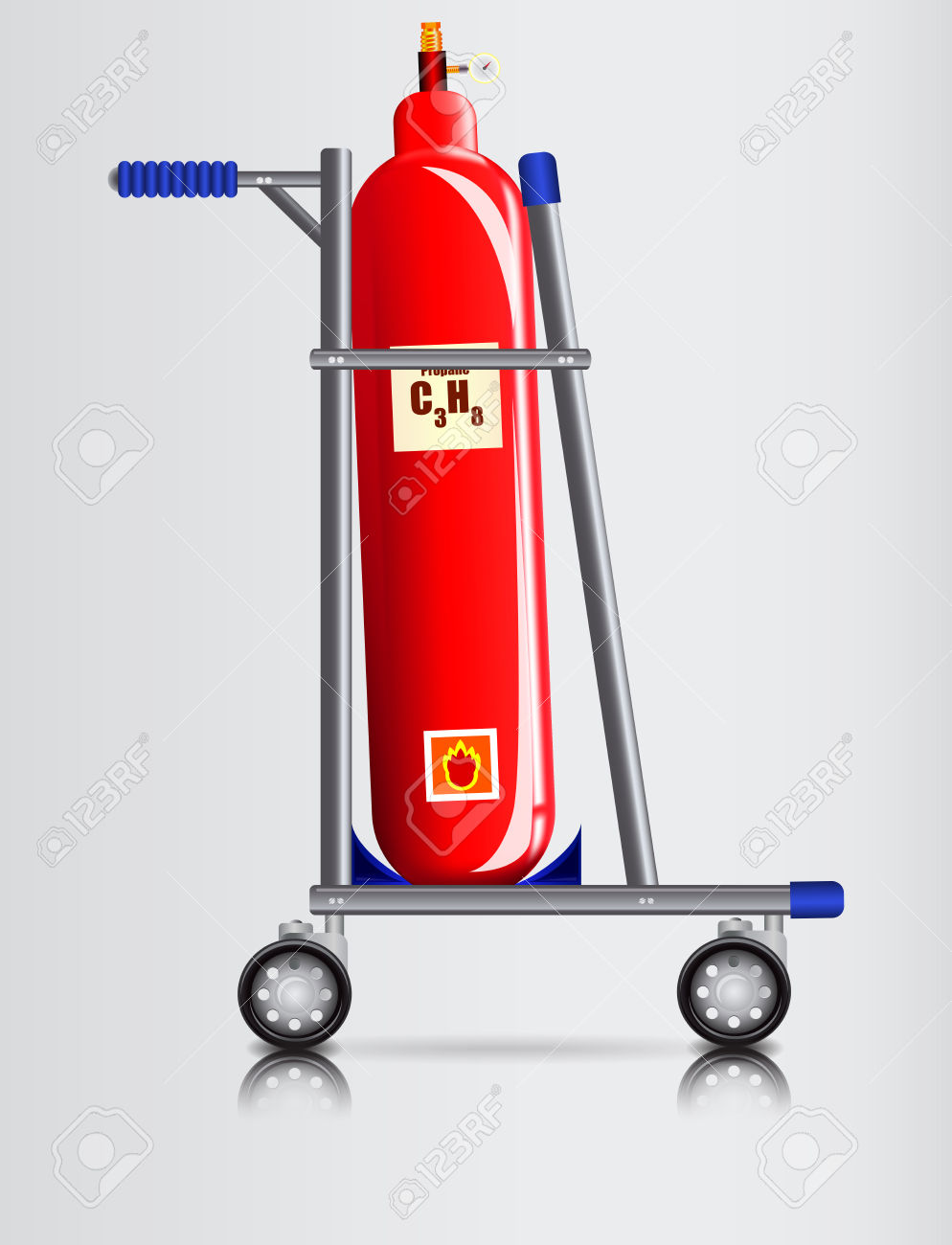 Trooley For Transport Of Dangerous Goods Royalty Free Cliparts.