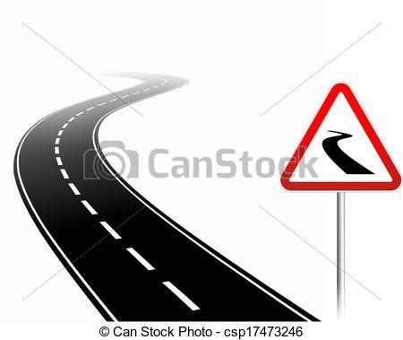 Drawing of dangerous road.
