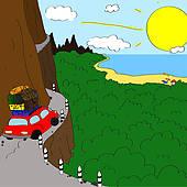 Mountain Road Clip Art.