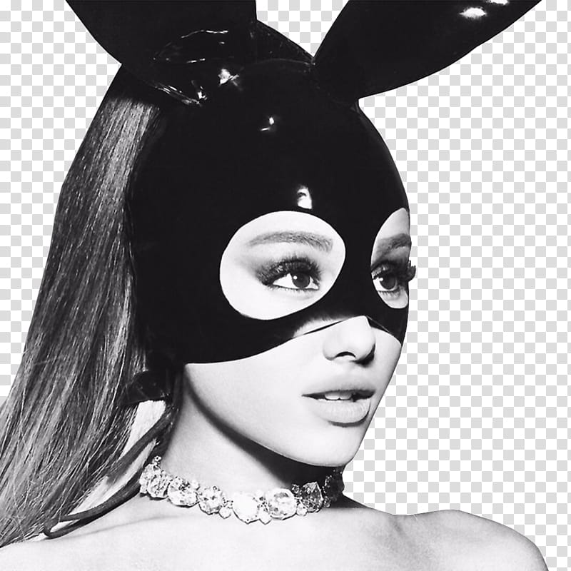 Ariana Grande Dangerous Woman, woman with black mask.