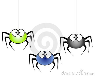 Hanging Spider Clipart.