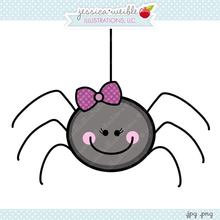 Pink spider clipart.