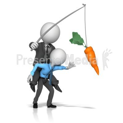Boss Dangling Carrot for a Employee.