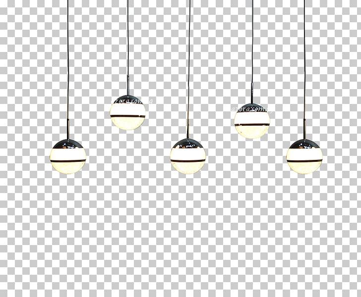 Light fixture Lighting, hanging lights, five pendant lamps.