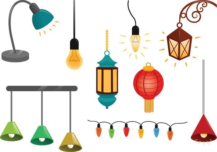 Hanging Lights Vectors.