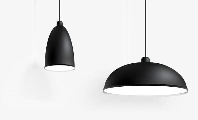 Black Simple Hanging Lights PNG, Clipart, Black, Black Clipart.
