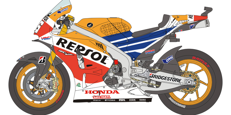 Blue Stuff : Dani Pedrosa 2014 Brno GP conversion set for Tamiya.