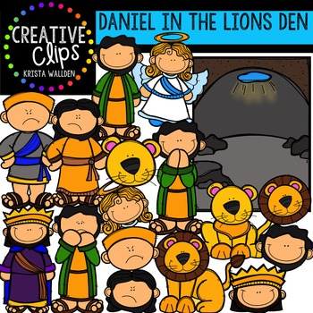 Daniel in the Lions Den {Creative Clips Digital Clipart}.