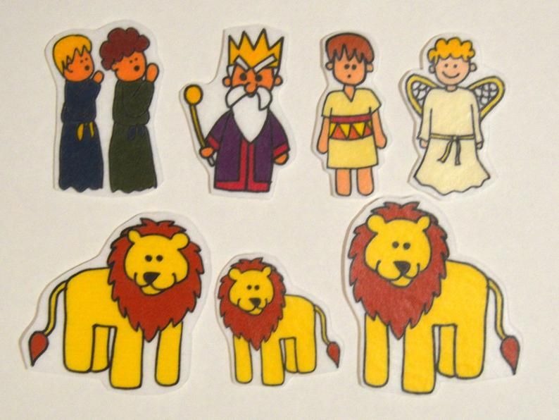 Daniel and the Lion's Den, Felt Board, Flannel Board, Felt Set, Homeschool,  Bible Story, Sunday School, Felt Story, Christian Felt,.