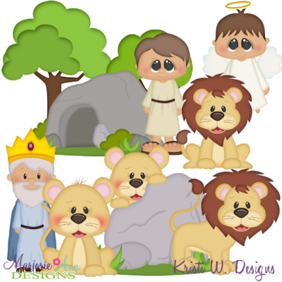 Daniel & The Lions Den SVG Cutting Files + Clipart.