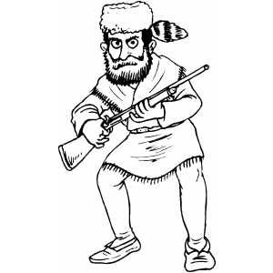 Download Daniel Boone Coloring Page.