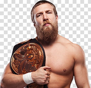 Daniel Bryan WWE Tag Team Champion transparent background.