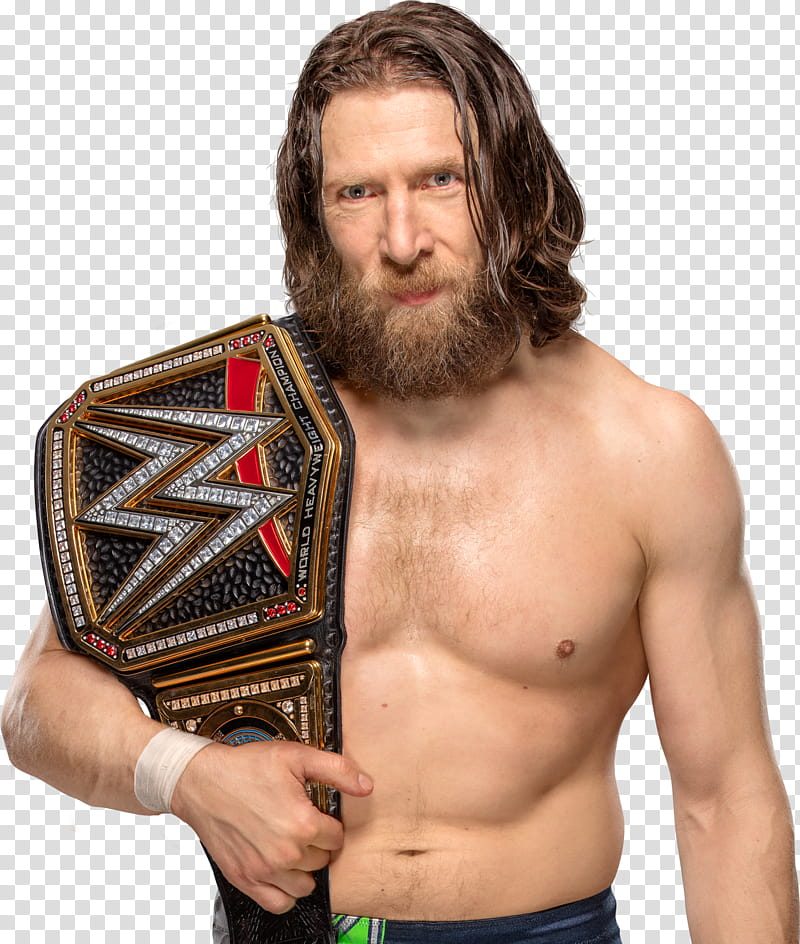 Daniel Bryan WWE CHAMPION Custom transparent background PNG.