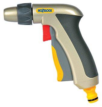 Hozelock Metal Adjustable Nozzle Watering Spray Gun: Amazon.co.uk.