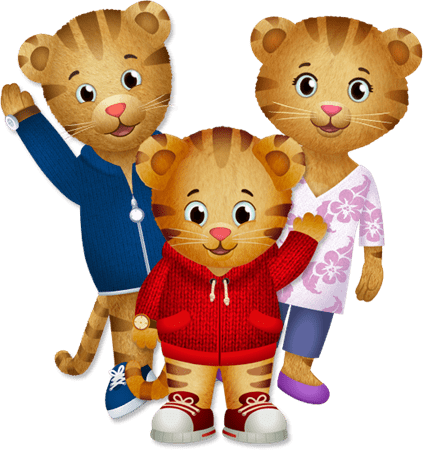 Daniel Tiger With Mum and Dad transparent PNG.