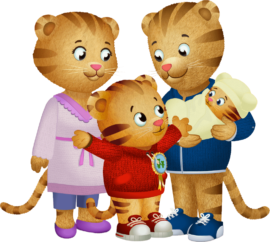 Daniel Tiger and His Family transparent PNG.