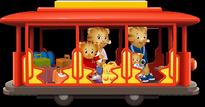 Download Free png daniel tiger in a streetcar.
