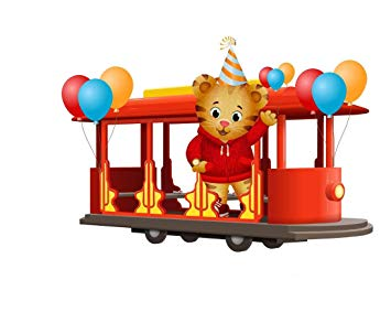 Mr Rogers Daniel Tiger's Neighborhood Trolley Edible Cake Topper.